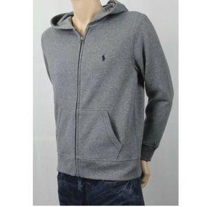 Ralph Lauren Full Zip Fleece Hooded Sweatshirt